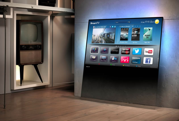 Smart TV de Philips sin soporte para una mesa