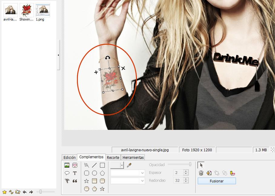 Como poner un tatuaje a una foto con Photoscape