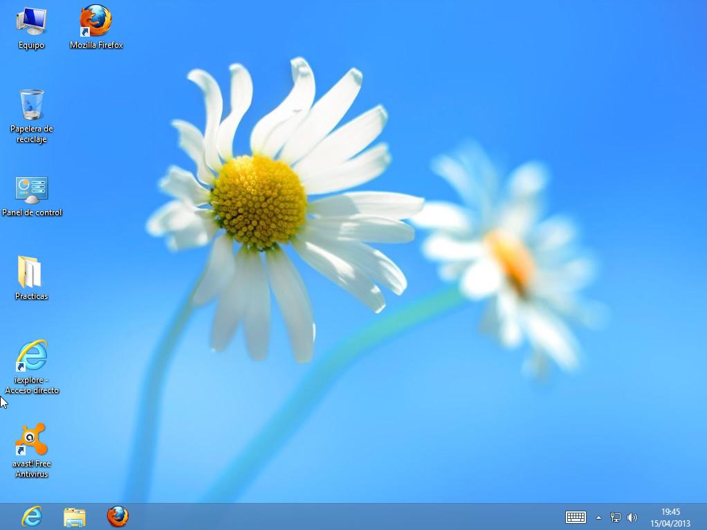 Escritorio de Windows 8