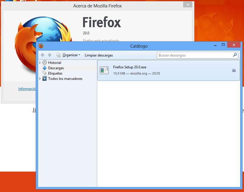 Firefox 20 viene con un nuevo administrador de descargas y cambios en la navegación privada