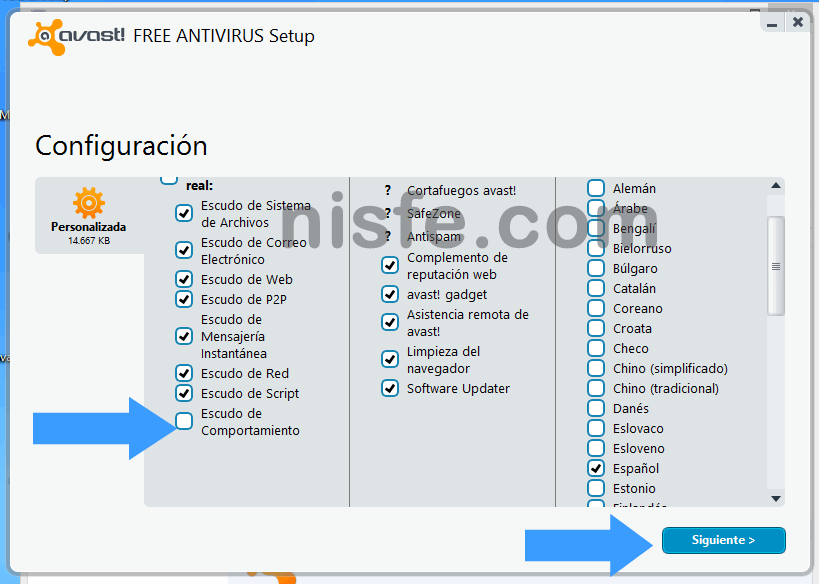 Pantalla negra inicio Windows 8 Avast