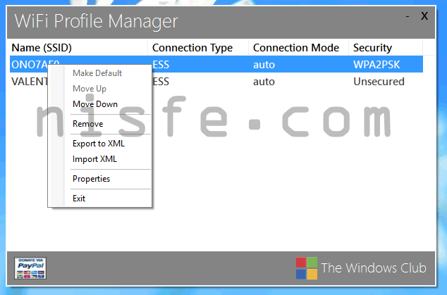 WiFi en Windows 8