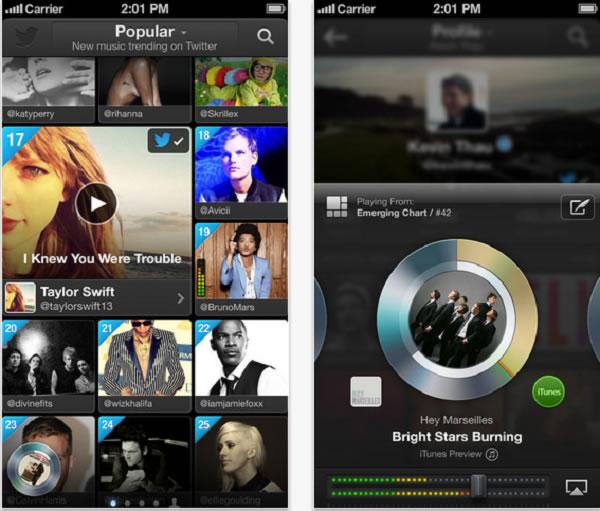 Twitter lanza #Music, un nuevo servicio de streaming y recomendación de música