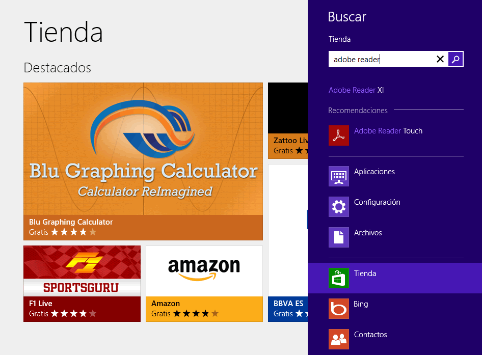 Instalar Adobe Reader Touch en Windows 8