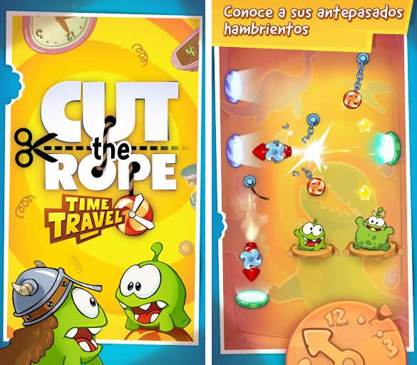 Cut the Rope: Time Travel, viaja en el tiempo en un puzzle totalmente adictivo