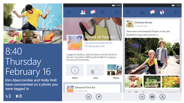 Beta de Facebook para Windows Phone 8 con nueva interfaz
