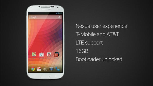 Galaxy S4  Google Edition características y precios
