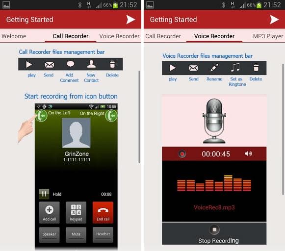 Grabar las llamadas de tu móvil Android con MP3 InCall Recorder & Voice
