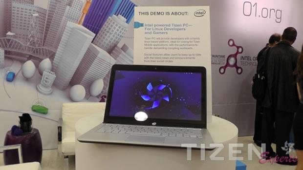 Intel realiza demostración de Tizen en un ultrabook