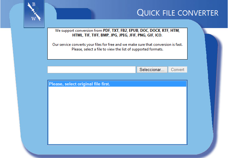 Quick File Converter, convierte más de 15 formatos de archivos desde el navegador