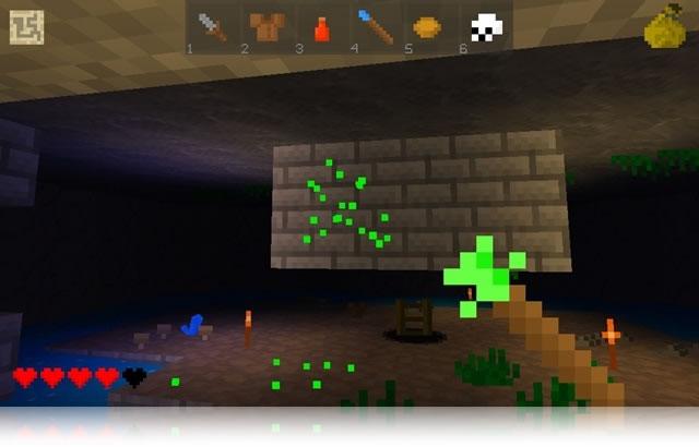 Delver un juego de acción muy similar al popular Minecraft