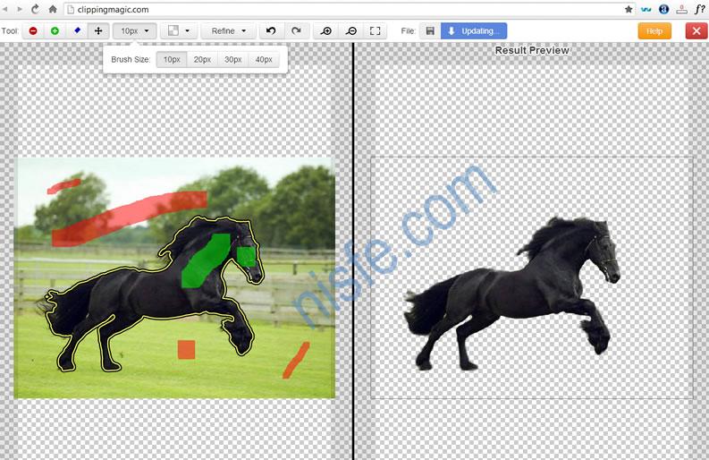 Borrar y cambiar el fondo a una fotografía de forma online, Clipping Magic