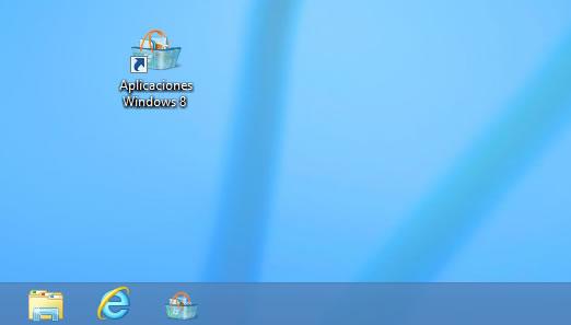 Como crear un acceso directo de todas las aplicaciones en el escritorio de Windows 8