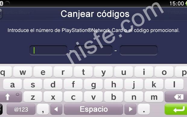 Como usar o canjear un código de PSN en la PlayStation Vita