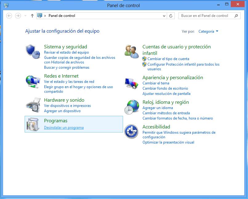 Como desinstalar Internet Explorer de Windows 8
