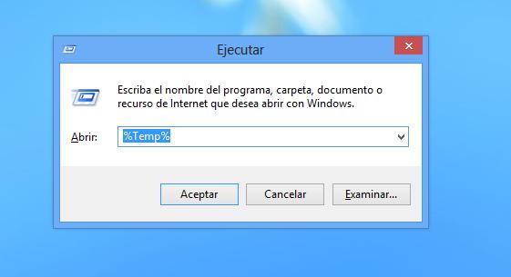 Como eliminar archivos temporales de usuario en Windows 8