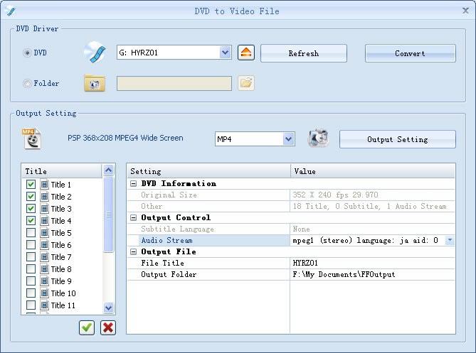 Convierta el video DVD a MP4, 3GP, AVI,WMV