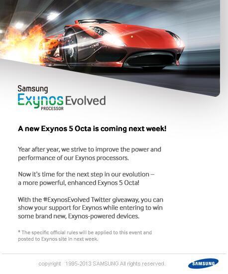 Samsung Exynos 5 octa core 2da generación se presentara la próxima semana