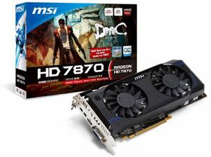 Nueva tarjeta Grafica Radeon HD 7870 de MSI, viene con una copia del juego DmC