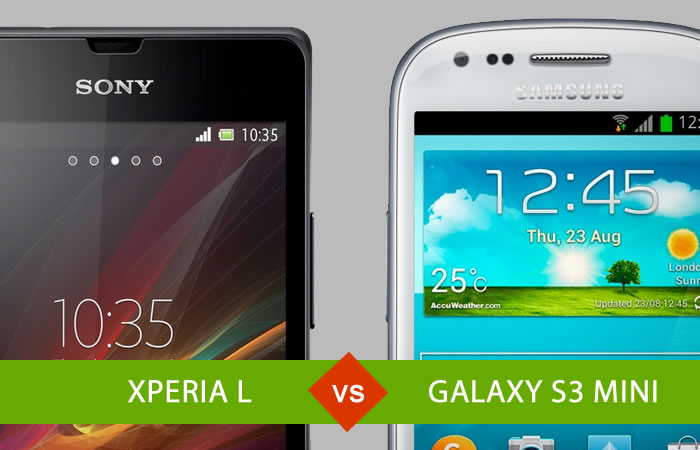 "Xperia L vs Galaxy S3 mini, comparación entre los modelos ""mini"""