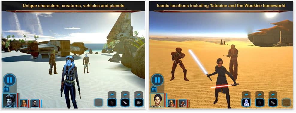 Review Star Wars Knights of the Old Republic para el iPad