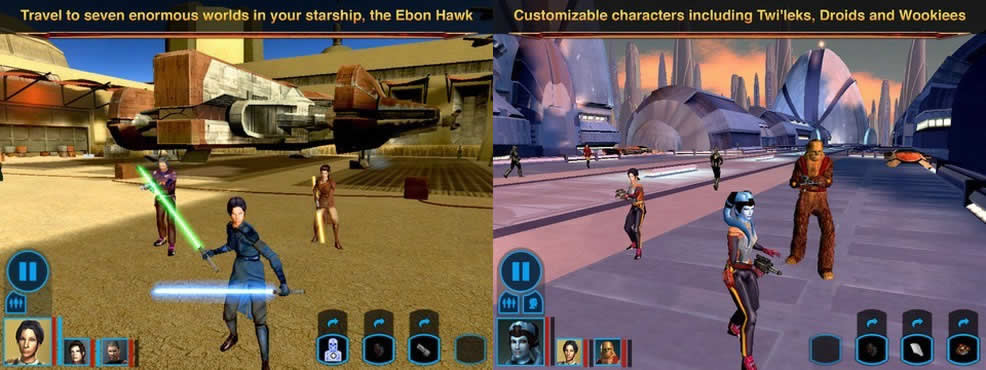Star Wars: Knights of the Old Republic, revive la franquicia en tu iPad