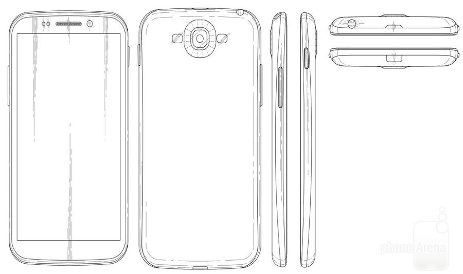 Patente del Galaxy S5 sugiere un diseño novedoso y sin ningún botón físico