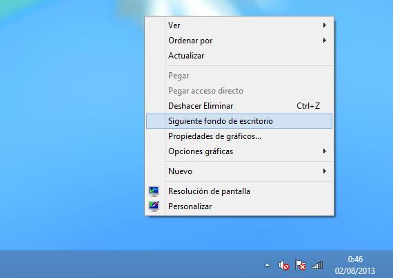 Como agregar varios fondos de pantalla en Windows 8