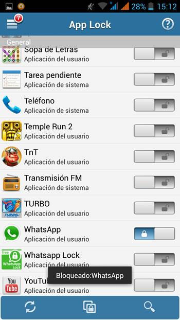 whatsapp con contraseña