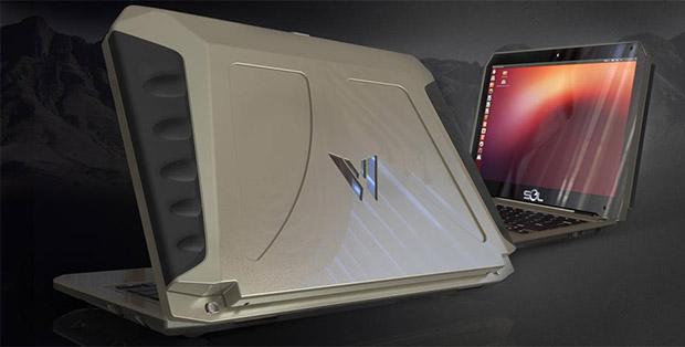 Sol, un ordenador portátil con Ubuntu que funciona con energía solar