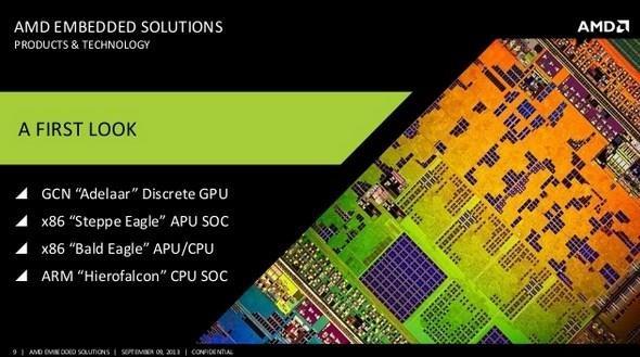 AMD presenta su línea de procesadores para el 2014: Bald Eagle, Hierofalcon, Adelaar, Steppe Eagle