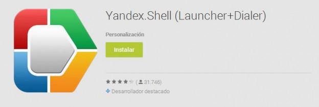 Yandex Shell, un launcher que cambia la apariencia de tu Android
