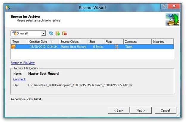 restaurar copia seguridad windows 8