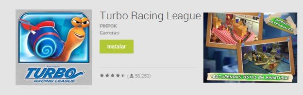 Juego de carreras con caracoles, Turbo Racing League