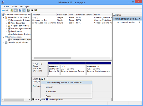 Windows 7 no detecta el lector de DVD al instalar