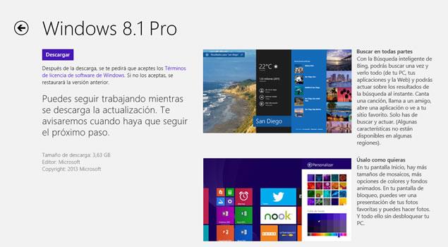Porque la actualización de Windows 8.1 no aparece en la tienda de Windows