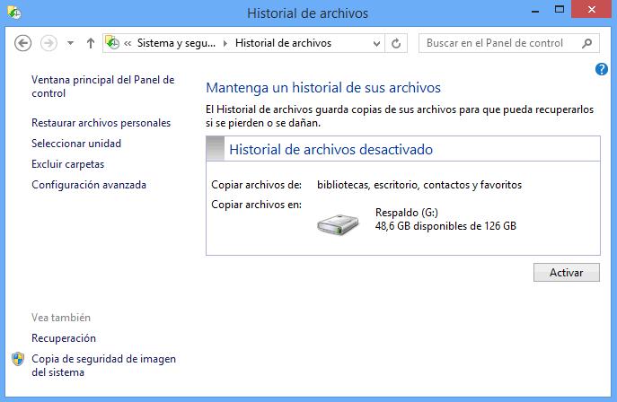 Recuperación de archivos para Windows 7