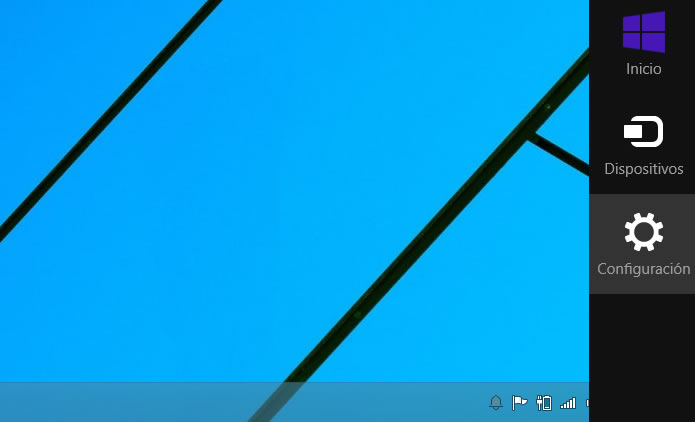 Accede a la configuración de Windows 8.1