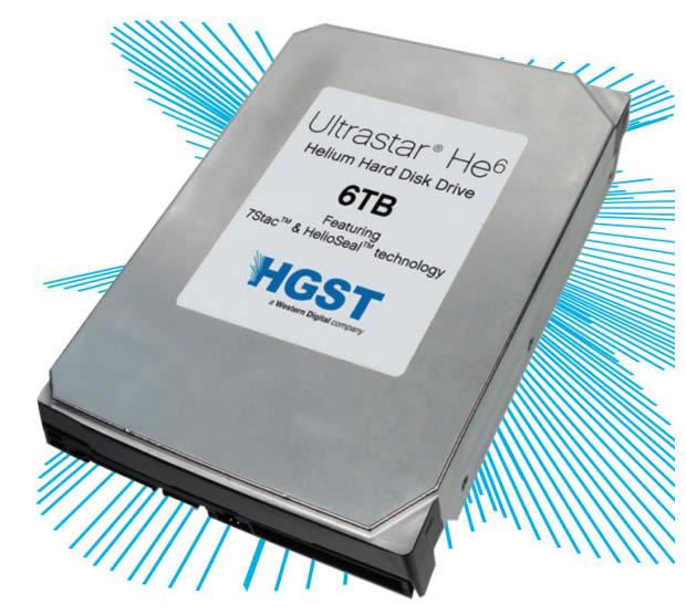 Disco duro con helio y 6 TB de Western Digital