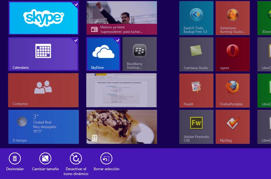 Como desinstalar varias aplicaciones a la vez de Windows 8.1 – sin programas