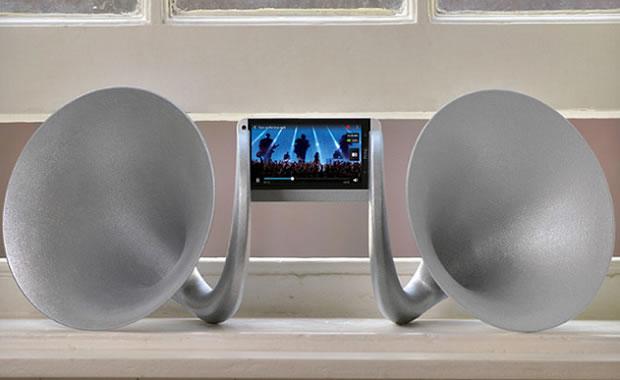 HTC lanza Gramohorn, altavoz para amplificar el audio de tu smartphone