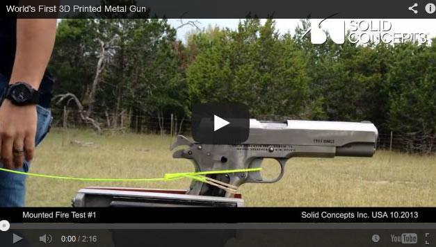 La primera pistola de metal impresa en 3D