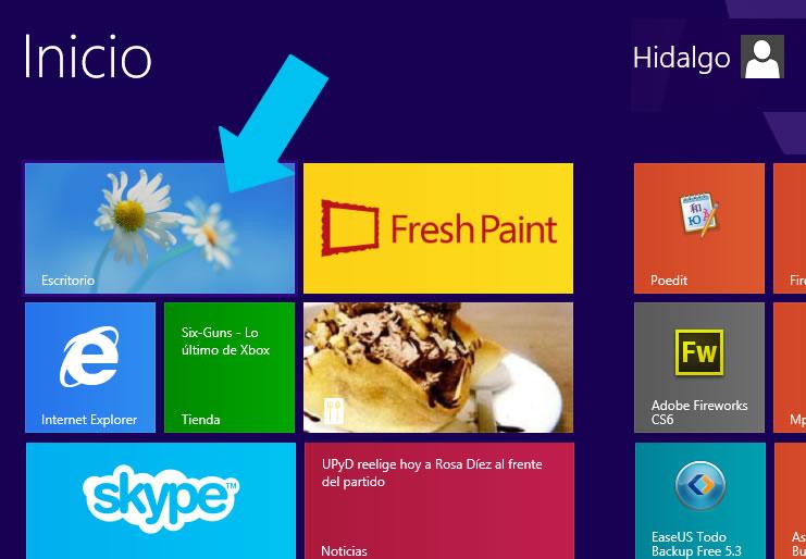 Como mostrar el escritorio de Windows 8.1 al iniciar