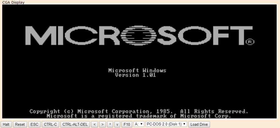 Emulador de Windows 1.01