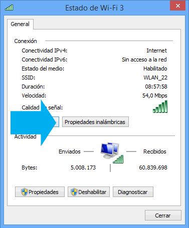 contraseñas wifi en windows 8.1