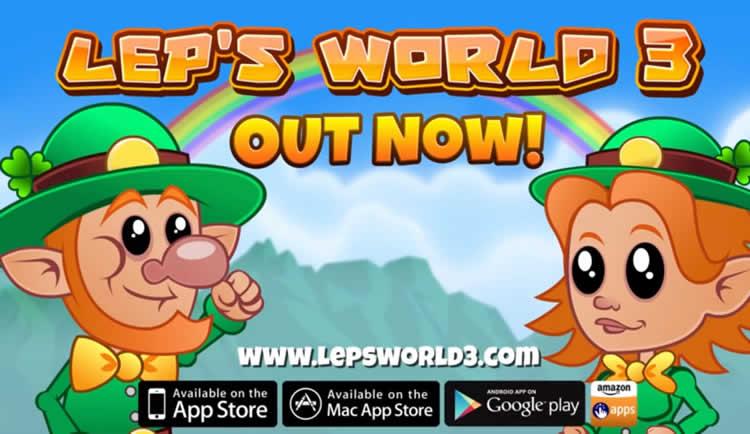 Lep's World 3, ayuda a un duende a recuperar el oro que le han robado los Trolls.