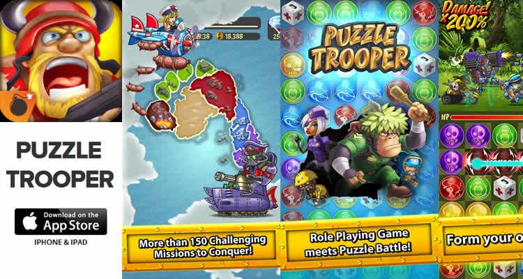 Juego para iOS, reúne tus tropas y conquista seis continentes en Puzzle Trooper