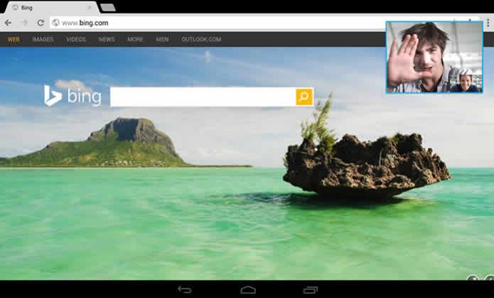 Videollamadas de Skype en una ventana flotante para las tabletas Android