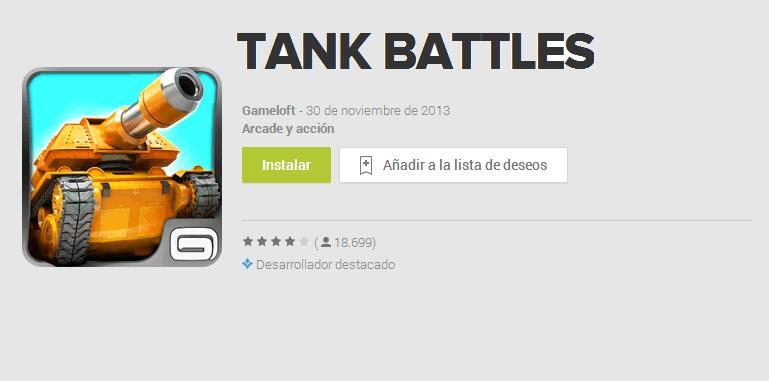 Tank Battles – increíble juego de batallas de tanques para iOS y Android