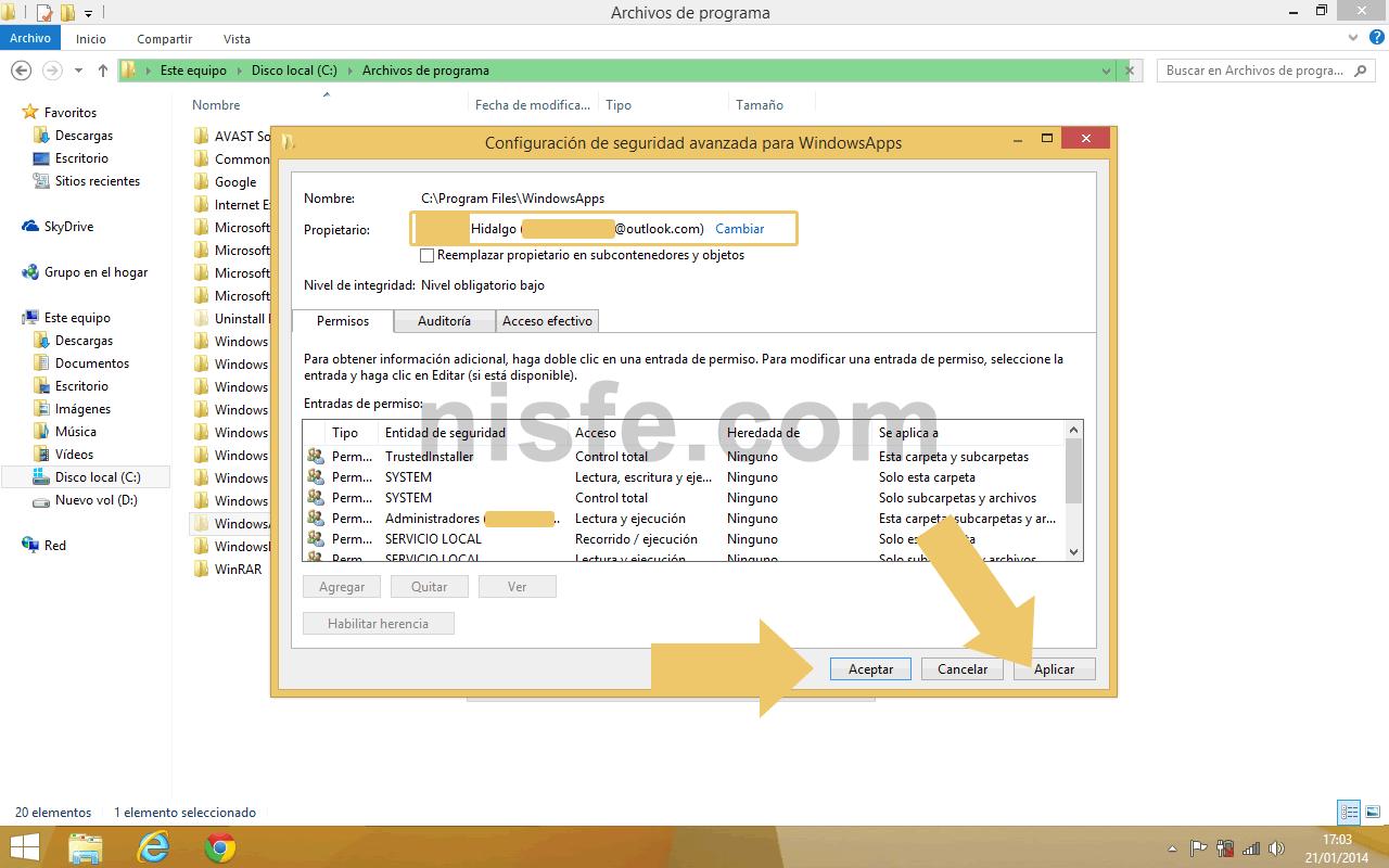 Donde se guardan las aplicaciones de Windows 8 descargadas desde la Windows store